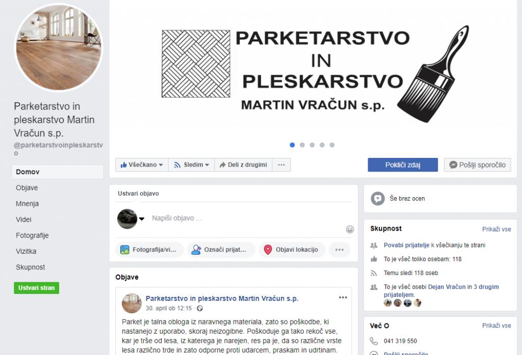 Parketarstvo in pleskarstvo Martin Vračun s.p.